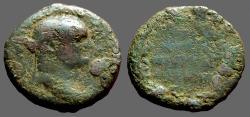 Ancient Coins - Vespasian, AE22 Sardes, Lydia.  city name in wreath