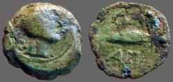 Ancient Coins - Spain, Cunbaria AE20 Bust rt / Dolphin left