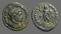 Ancient Coins - Constantine The Great AE3 Sol holds globe