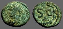 Ancient Coins - Antoninus Pius AE15 Antioch on Orontes, SC within wreath. delta