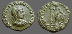 Ancient Coins - Crispus AE3 Crispus w. spear, rests on shield
