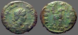 Ancient Coins - Valentinian II, AE3 Roma seated.  VRBS ROMA  Antioch