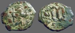 Ancient Coins - Constans II AE25 Follis.  Officiana B.  Constantinople