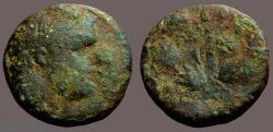 Ancient Coins - Phoenicia, Tyre. AE20  Melqart / Club within wreath