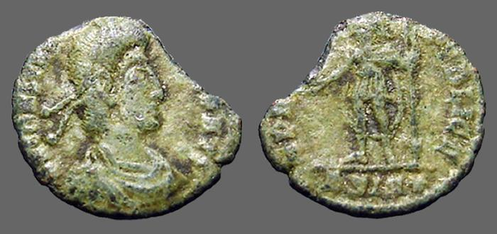 Ancient Coins - Constantius II AE3/4 (15mm) SPES REIPUBLICE S#4011