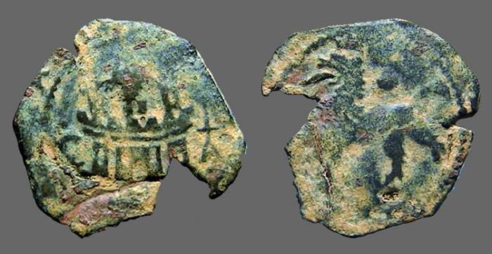 Ancient Coins - Fernando V & Isabella AE 2 Maravedis