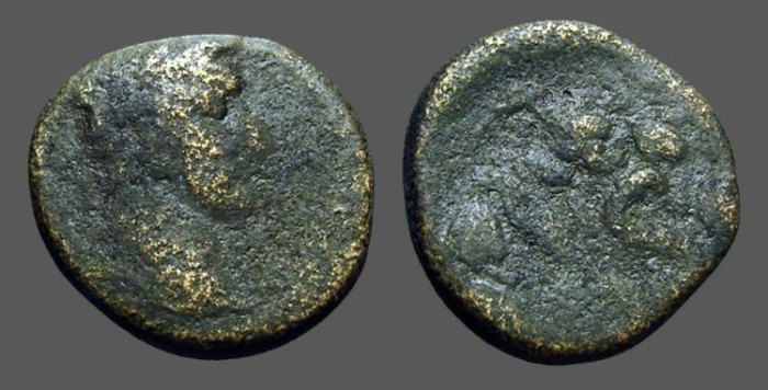 Ancient Coins - Antoninus Pius AE22, Antioch on Orontes, SC within wreath