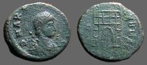 Ancient Coins - Arcadius AE4 (11mm) Campgate  Thessalonica