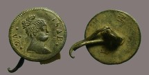 Ancient Coins - Spain AE16 Button of Queen Isabella II