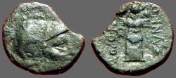 Ancient Coins - Mysia, Pergamon Æ18 / Hd of Athena / Trophy of Armor