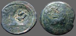 World Coins - Spain. Philip III AE20 Maravedis.  countermarked Philip IV time 1636