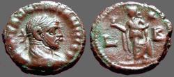Ancient Coins - Maximianus, Egypt, Alexandria, Potin Tetradrachm,  Elpis w. flower