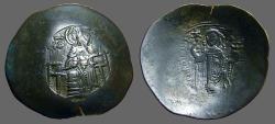 Ancient Coins - Manuel aspron trachy 28mm. Virgin / Manuel w. globus w. patriarchal cross,