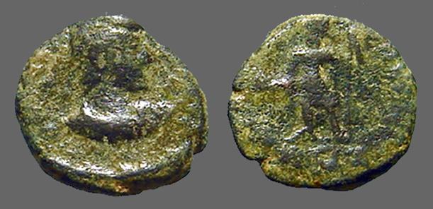 Ancient Coins - Imitative Constantius II AE3/4 (17mm) SPES REIPUBLICE S#4011