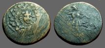 Ancient Coins - Pontos, Amisos AE22, Aegis with facing head of Gorgon at center /   Nike