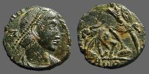 Ancient Coins - Constantine I era imitative AE3  Soldier Spearing Fallen Horseman