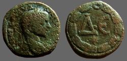 Ancient Coins - Severus Alexander AE20 ΔΕ in wreath.  Antioch