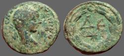 Ancient Coins - Elagabalus AE22 ΔΕ within wreath.  Antioch