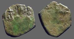 Ancient Coins - Late Byzantine AE15 tetarteron mint error