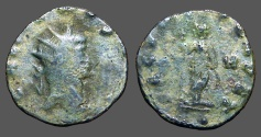 Ancient Coins - Gallienus antoninaus. Securitas leaning on column, holds scepter, H in the right field.