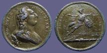 World Coins - France, Louis XVI, 40mm Firmata Consilio Commercia Medal    1781.