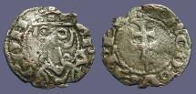 Ancient Coins - Spain, James I of Aragon billon Denar.   Patriarchal Cross