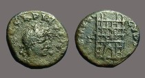 Ancient Coins - Arcadius AE4 Nummus, Campgate, Constantinople