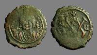 Ancient Coins - Maurice Tiberius AE24 1/2 follis,'XX'  Antioch, year 5