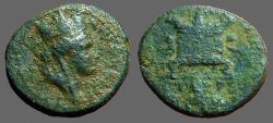 Ancient Coins - Seleucis and Pieria, Antioch, AE17 Time of Nero. City Goddess / Lit Altar.
