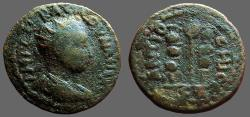 Ancient Coins - Valerian I AE20 Pisidia, Antioch. Military Vexillim