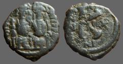 Ancient Coins - Justin II & Sophia AE18 1/2 Follis. Nikomedia