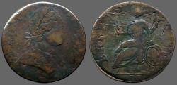 Us Coins - Pre-Federal United States Machins Mill AE27. 1/2 Penny. 1778