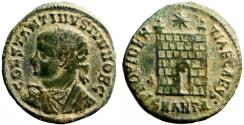 Ancient Coins - Constantine II Caesar AE18 Campgate. Antioch
