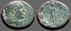 Ancient Coins - Sardes, Lydia AE16 Herakles / Apollo w. bird & laurel branch