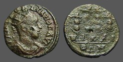 Ancient Coins - Gordian III AE19 Nicaea, Military Standards