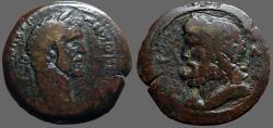 Ancient Coins - Antoninus Pius AE33 Drachm  Bust of Zeus.  Alexandria, Egypt