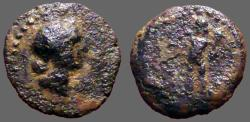 Ancient Coins - Spain, Corduba, AE20 Semis. Venus / Cupid w. torch & cornucopia
