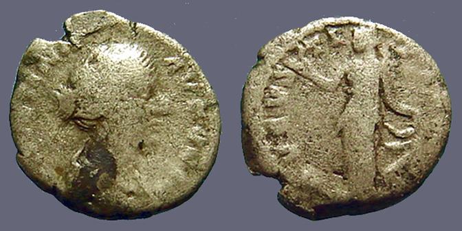 Ancient Coins - Faustina Junior Denarius