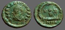 Ancient Coins - Arcadius AE4 Vows in wreath! VOT/V