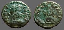 Ancient Coins - Septimius Severus AE18 Marcianopolis, M.I. Roman Eagle facing