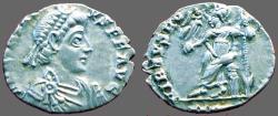 Ancient Coins - Arcadius AR Siliqua.  VIRTVS ROMANORVM.  Milan.