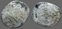 World Coins - France. Henry III AR25 Silver Double Sol, Paris mint.