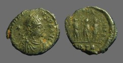 Ancient Coins - Honorius AE3 Theodosius II, Aracadius, Honorius stg side by side.  Antioch