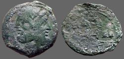 Ancient Coins - C VIBIUS PANSA AE27 as. Janus / triple Galley prow
