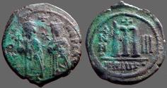 Ancient Coins - Phocas and Leontia  Æ28 Follis. Theoupolis