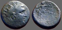 Ancient Coins - Seleukid. Alexander I Balas AE19 Zeus seated left