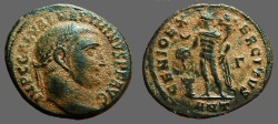 Ancient Coins - Maximinus II AE22 Follis Genius sacraficing over altar.  Antioch   305-311 AD.  Very Nice,