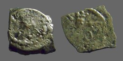 Ancient Coins - Herod I lepton.  Eagle / Cornucopia. Hendin501