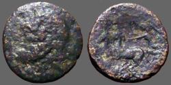 Ancient Coins - Sicily, Syracuse AE21 Zeus / Nike driving biga.  Under Roman Rule