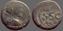 Ancient Coins - Antoninus Pius AE18, Antioch, Syria. SC within wreath.